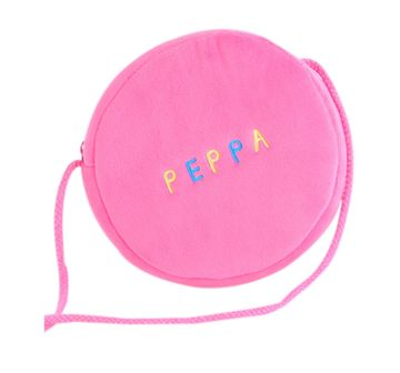Peppa Pig | Peppa Pig Pink Soft Toy Wallet, Round Shape, Multi Color