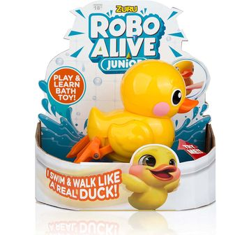 Robo Alive | Robo Alive Junior Battery-Powered Yellow Baby Duck Bath Toy & Accessories for Kids age 18M +
