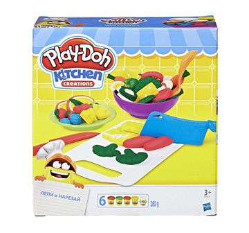 Play-Doh | Play-Doh Kitchen Creations Shape n Slice Clay & Dough for Kids age 3Y+