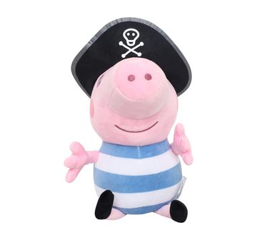Peppa Pig   Peppa Pig In Pirate Costume Multi Color 30 Cm Soft Toy for Kids age 3Y+ - 30 Cm