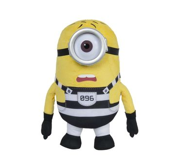 Simba   Simba Minions Jail Stuart, 37Cm Character Soft Toys for Kids Age 0M+ - 37 Cm (Yellow)