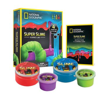 National Geographic | National Geographic DIY Science Lab Make Glowing Slime for Kids age 3Y+ (Blue)