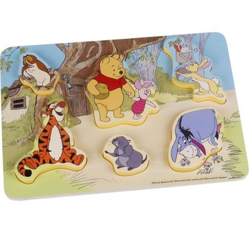 Winnie The Pooh & Pals   Disney Wooden Puzzle 7Pcs - Winnie