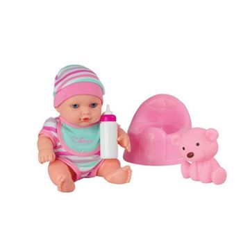 Calinou | Calinou Blue Baby with Pot Dolls & Accessories for Girls age 2Y+
