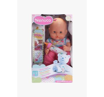 Nenuco   Brown Nenuco With Magic Feeding Bottle Dolls & Accessories for Girls age 10M+