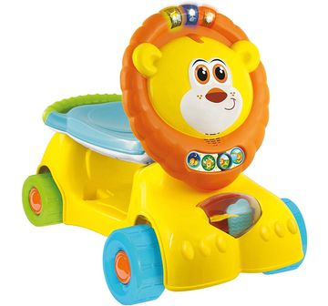 WinFun | Winfun 3 in 1 Grow With Me Lion Scooter Baby Gear for Kids age 12M+ (Yellow)