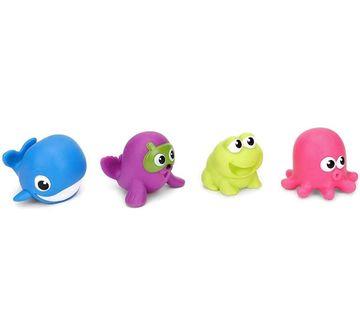 WinFun | Winfun Splash N Squirt Bath Pals - 10Pcs Bath Toys & Accessories for Kids age 12M+