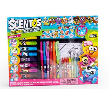 Scentos | Scentos Activity Kit 56 Pcs School Stationery for Kids age 3Y+