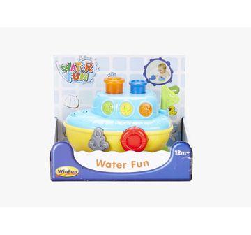 WinFun   Winfun Water Fun Musical Blue Boat Bath Toys & Accessories for Kids age 12M+