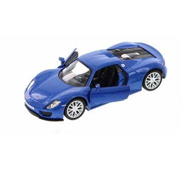 Msz | MSZ 1:24 Die Cast Porsche 918 Spyder Car with Light and Sound Blue