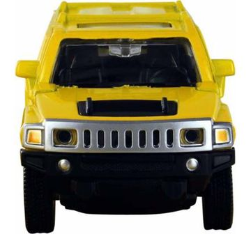 Msz | Msz 1:24 Die Cast Hummer H3 Car with Light and Sound Yellow Vehicles for Kids age 3Y+