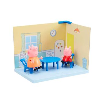 Peppa Pig | Peppa Pig - Kitchen Playset With Peppa Pig And Mamma Figures