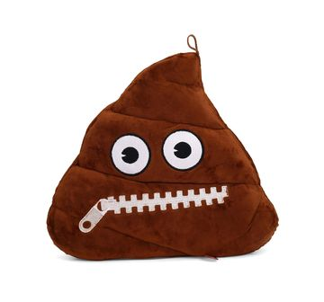 Emoji | NE MBE EMOJI POOP ZIPPER MOUTH FACE 30CM