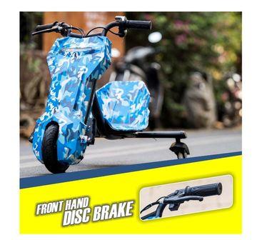 Megawheels   Megawheels Drifter Bike Graffitti Blue Novelty Rideons for Kids age 8Y+