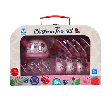 Comdaq   Comdaq Children'S Square 15 Pcs Tea Set for Kids age 3Y+ (Pink)