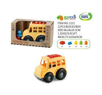 Comdaq | Construction Tractor Medium Vehicle with 11 Pieces blocks
