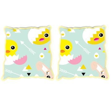 Mothercare | Fancy Fluff Set Of 2 Rai Pillow Covers - Chick