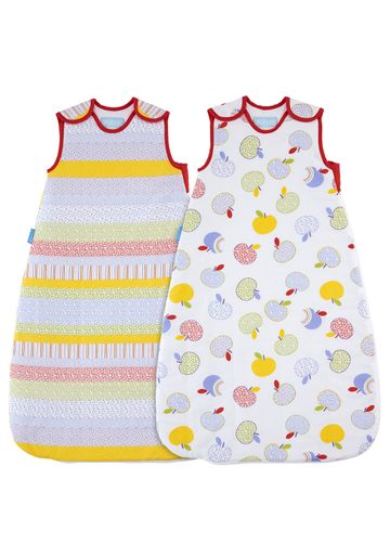 Mothercare | Mothercare Grobag Apple Days Wash And Wear 2.5 Tog Sleep Bags Pack of 2 Multi