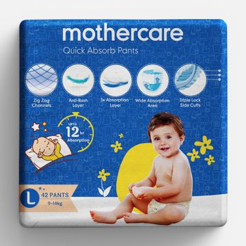 Mothercare   Mothercare Quick Absorb Diaper Pants Large- 42 Pcs