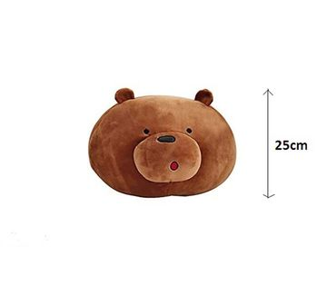 We Bare Bears   We Bare Brown Grizzly Bear Face 25 Cm Character Soft Toys for Kids age 12M+ - 4 Cm