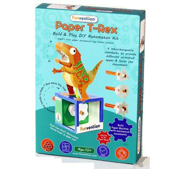 Funvention | Funvention Paper T-Rex Automaton Stem for Kids Age 10Y+