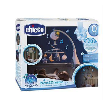Chicco | Chicco Next 2 Dreams Mobile - Blue New Born for Boys age 0M+