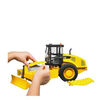 Cat | Bruder 1:16 Caterpillar Vibratory Soil Compactor with Levelling Blade