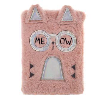 Mirada | Mirada Fancy Cat Plush Notebook Study & Desk Accessories for Girls age 3Y+ (Pink)