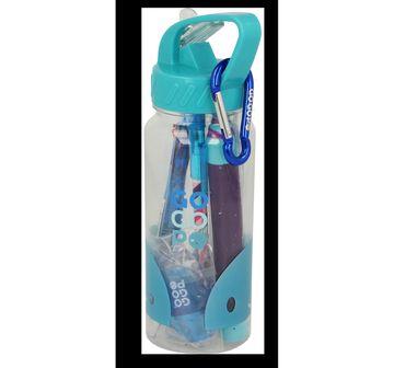 Gogopo | Gogopo Blue Sports Bottle Bundle School Stationery for Kids age 3Y+ (Blue)