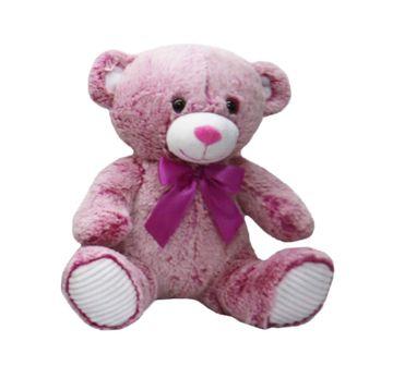 Starwalk | My Baby Excel Teddy Bear Plush With Satin Bow - Dark Brown 25 Cm