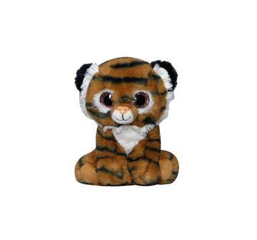Soft Buddies   Softbuddies Big Eye Tiger Quirky Soft Toys for Kids age 3Y+ - 20 Cm (Brown)