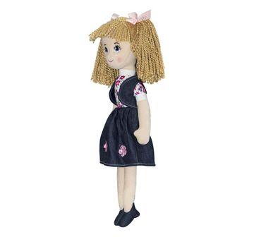 Soft Buddies | Softbuddies Blue Denim Dolls & Puppets for Girls age 3Y+ - 40 Cm