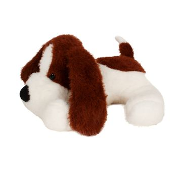 Fuzzbuzz | 33cm Lying Dog Dark Brown