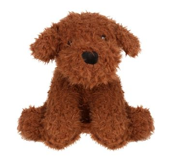 Fuzzbuzz | 25 cm Sitting Dog Dark Brown
