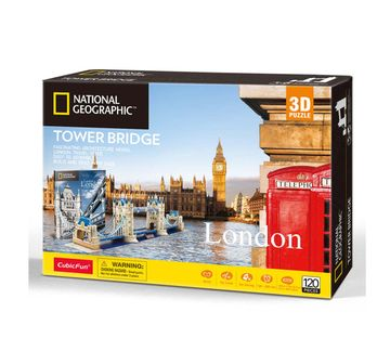 Cubic Fun | Cubicfun National Geographic Tower Bridge Puzzles for Kids Age 10Y+