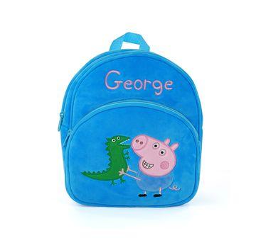 Peppa Pig   Peppa Pig George Bag Plush Accessory for Kids age 1Y+ - 28 Cm (Blue)