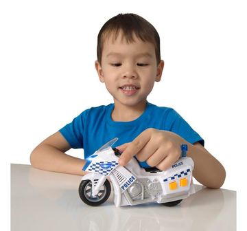 Ralleyz | Ralleyz Light And Sound Policemotorbike-Small Vehicles for Kids age 3Y+