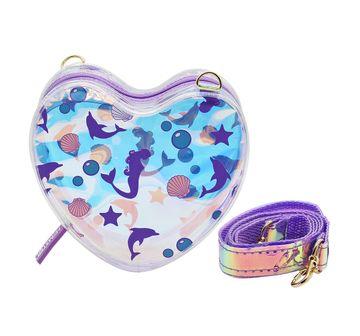 Hamster London   Hamster London Heart Shaped Mermaid Sling Bag for Girls age 3Y+ (Purple)