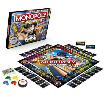 Hasbro Gaming | Hasbro Monopoly Speed Board Game Board Games for Kids age 8Y+