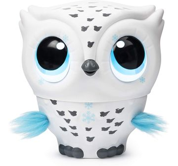 Owleez   Owleez, Flying Baby Owl Interactive Toy with Lights and Sounds  Collectible Dolls for Kids age 6Y+ (White)