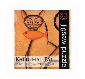 Froggmag |  Frogg Kalighat Pat  63Pc Puzzles for Kids age 7Y+ (Mustard)