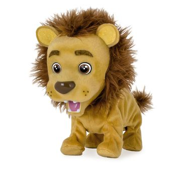 Imc   Imc Kokum The Little Lion Interactive Soft Toys for Kids age 3Y+ - 16 Cm (Brown)