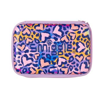 Smiggle    Smiggle Flow Hardtop Pencil Case - Heart Print Bags for Kids age 3Y+ (Lilac)