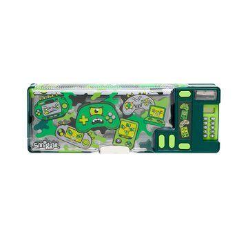 Smiggle | Smiggle Far Away Pop Out Pencil Case - Gaming Print  Bags for Kids age 6Y+ (Green)