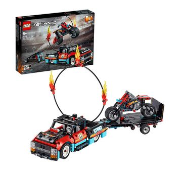 LEGO | Lego Technic 42106 Stunt Show Truck & Bike Blocks for Kids age 8Y+