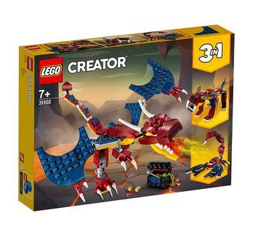 LEGO | Lego 31102 Fire Dragon Blocks for Kids age 7Y+