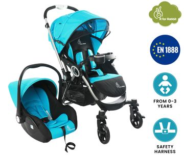 Mothercare | R For Rabbit Chcocolate Ride Travel System Blue Black