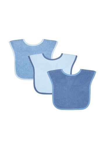 Mothercare | Mothercare Toddler Towelling Bibs & Burp Cloths Blue