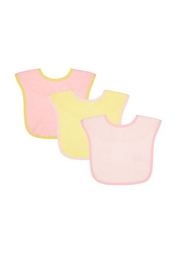 Mothercare | Mothercare Toddler Towelling 3 pack Bibs Pink