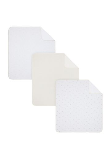 Mothercare | Mothercare Little & Loved 3Pk Jersey  Baby Blankets Cream